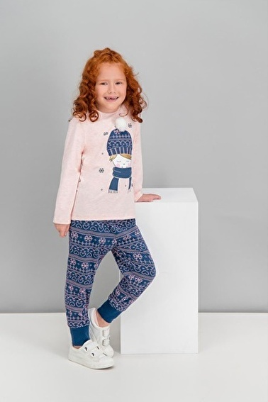 Roly Poly  Winter Girls Pembemelanj Kız Çocuk Pijama Takımı Pembe